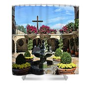 Mission Inn Chapel Courtyard Shower Curtain