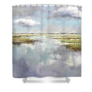 Misty Landscape Shower Curtain