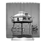 Mobile Bay Lighthouse Shower Curtain