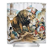 Monroe Doctrine: Cartoon Shower Curtain