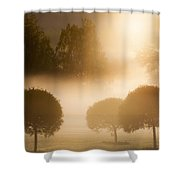 Morning At Golf Course Shower Curtain