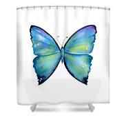 2 Morpho Aega Butterfly Shower Curtain