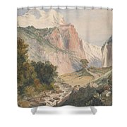 Mountain Landscape Shower Curtain
