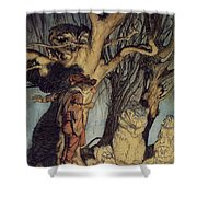 Mystical Forest Shower Curtain