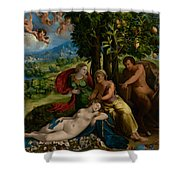 Mythological Scene Shower Curtain