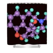 Naloxone, Molecular Model Shower Curtain