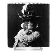 Navajo Mask, C1905 Shower Curtain