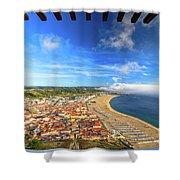 Nazare Portugal Skyline Shower Curtain