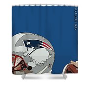 New England Patriots Original Typography Football Team Shower Curtain