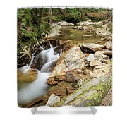 New England Waterfall Shower Curtain