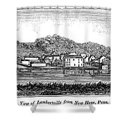 New Jersey, 1844 Shower Curtain