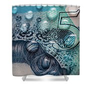 New Uk Five Pound Note Shower Curtain