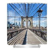 New York City Brooklyn Bridge Shower Curtain