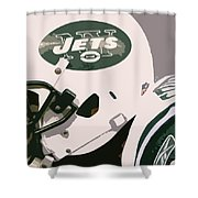 New York Jets Football Team And Original Typography Shower Curtain