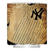 New York Yankees Baseball Team Vintage Card Shower Curtain