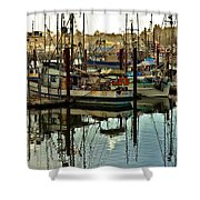 Newport Marina Shower Curtain