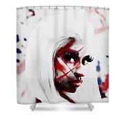 Nicki Minaj Colorful World Shower Curtain