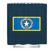 Northern Marianas Flag Shower Curtain