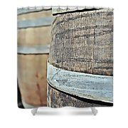 Oak Wine Barrel Shower Curtain
