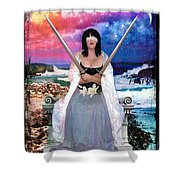 2 Of Swords Shower Curtain