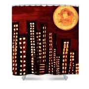 Wild L.a Moon Shower Curtain