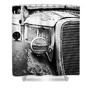 Old Farm Ford - Pov 1 Bw Shower Curtain