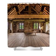 Old House Interior Shower Curtain