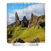 Old Man Of Storr, Isle Of Skye, Scotland Shower Curtain