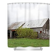 Old Weathered  Barn  Shower Curtain