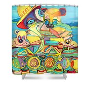 One Day On The Lake Shower Curtain