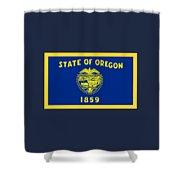 Oregon Flag Shower Curtain