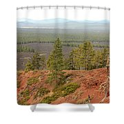 Oregon Landscape - View From Lava Butte Shower Curtain