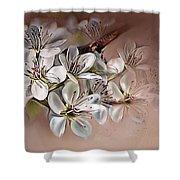 Oriental Pear Blossom Shower Curtain