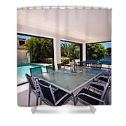 Outdoor Living Shower Curtain