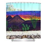 Outside Mural Shower Curtain