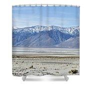 Owens Dry Lake Shower Curtain