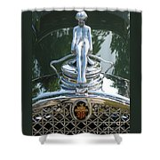 Packard Hood Ornament Shower Curtain