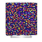 Pacman Seamless Generated Pattern Shower Curtain