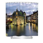 Palais De L'isle And Thiou River In Annecy Shower Curtain
