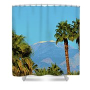 Palm Springs Mountains Shower Curtain