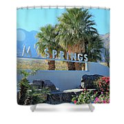 Palm Springs Welcome Shower Curtain