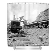 Panama Canal - Construction - C 1910 Shower Curtain