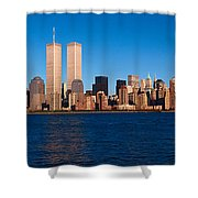 Panoramic View Of Lower Manhattan Shower Curtain