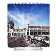 Paramount Theatre - Asbury Park Boardwalk Shower Curtain