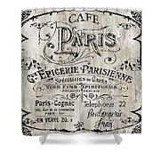 Paris Bistro  Shower Curtain