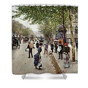 Parisian Street Scene Shower Curtain