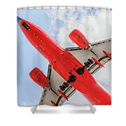 Passenger Jet Coming In For Landing  Shower Curtain