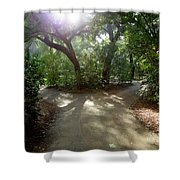 2 Paths  Shower Curtain