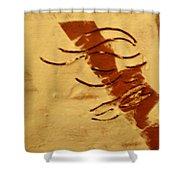 Peace - Tile Shower Curtain