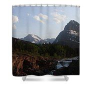 2 Peaks 1 Fall Shower Curtain
